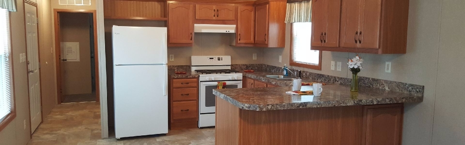 kitchen in 3 bedroom mobile home
